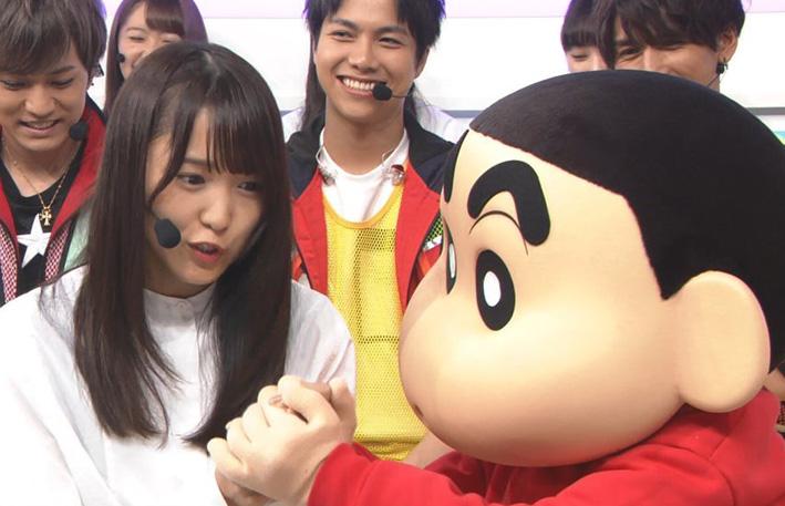 しんちゃんが菅井友香に握手&てちを笑顔に!中の人だれ?|Mステ