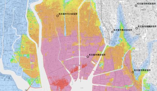 伊勢湾台風と台風24号の愛知県名古屋市の進路・気圧・大きさ比較